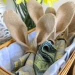 Burlap Bunny Ear Napkin Rings for Easter