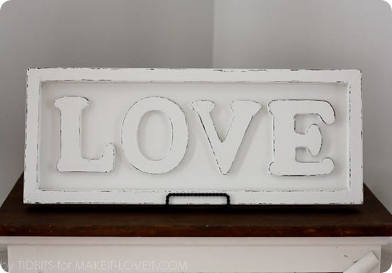 Pottery Barn Inspired Love Sign