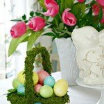 Moss Covered Easter Basket