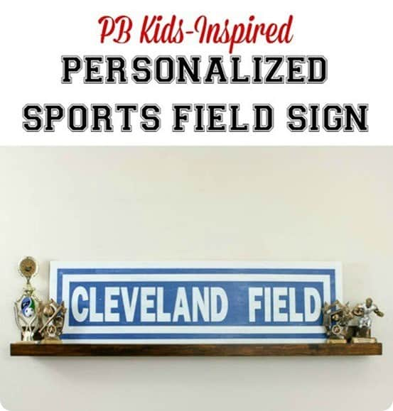 Pottery Barn Kid inspired sports sign