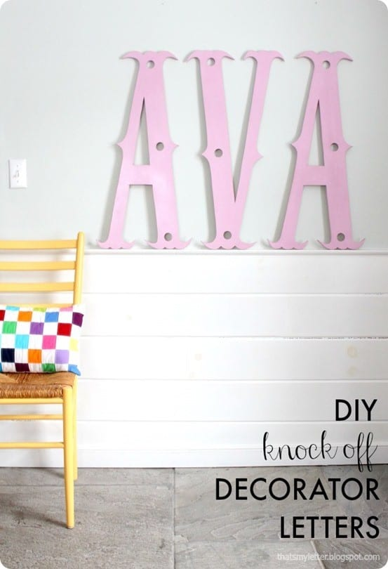 Pottery Barn Kids inspired wall letters