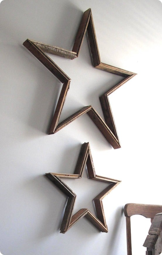 Reclaimed Wood Wall Stars