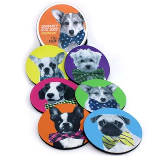 Seriously Cute Dogs Coaster Set
