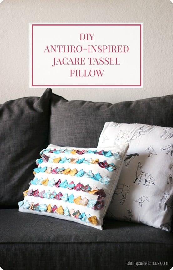 Anthropologie Inspired Tassel Pillow