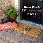 IKEA Hack Monogrammed Doormat
