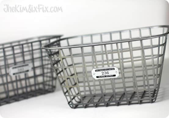 Dollar Store Craft Faux Zinc Basket