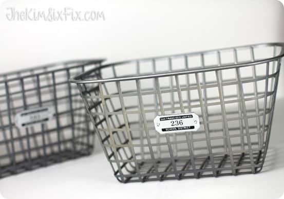 Dollar Store Craft Faux Zinc Basket