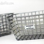 Wire basket to store extra cables