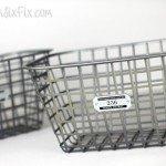 Turn Dollar Stores Bins into Metal Baskets