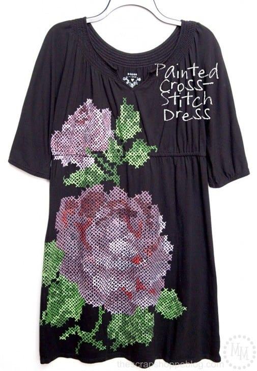Painted Cross Stitch Dress