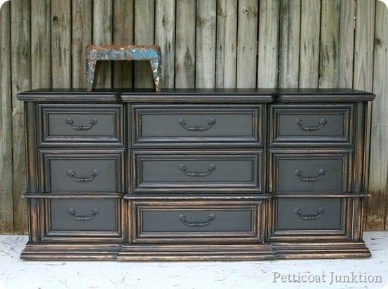 Black Dresser With Graduated Distressing Knockoffdecor Com