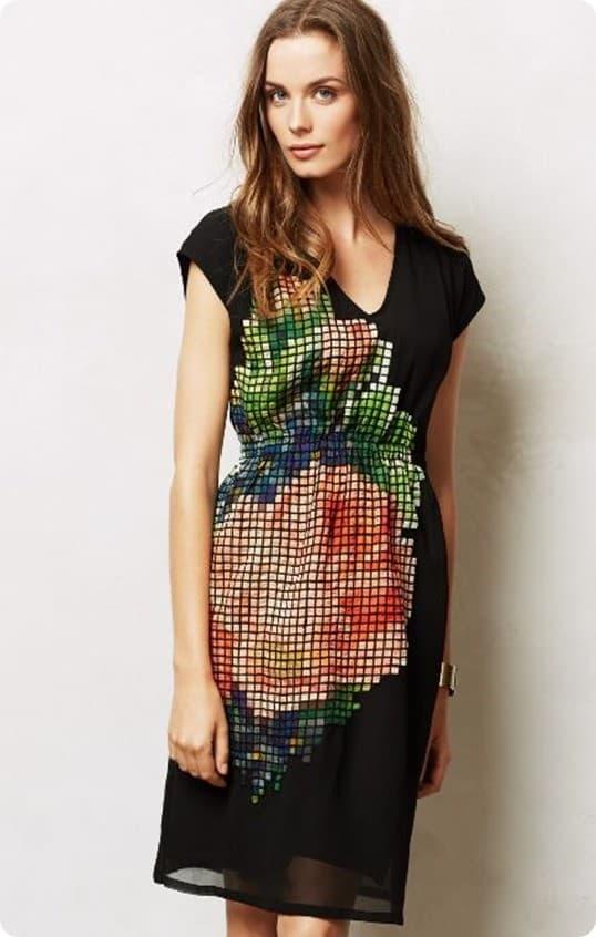 Pixelated Fleur Dress