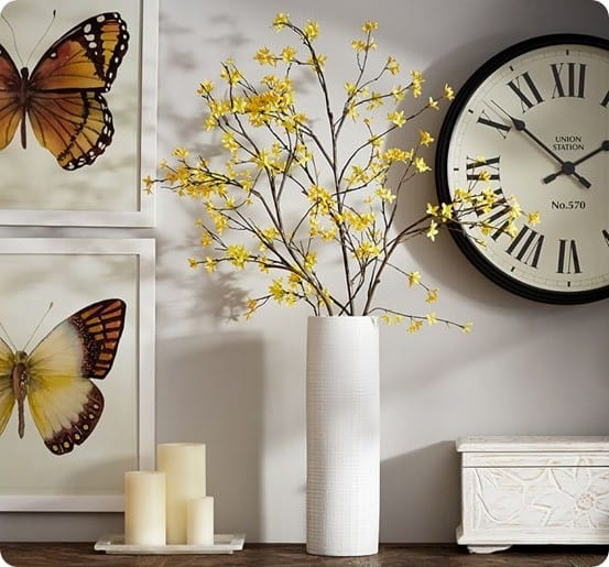 Pottery Barn Faux Yellow Forsythia Branch