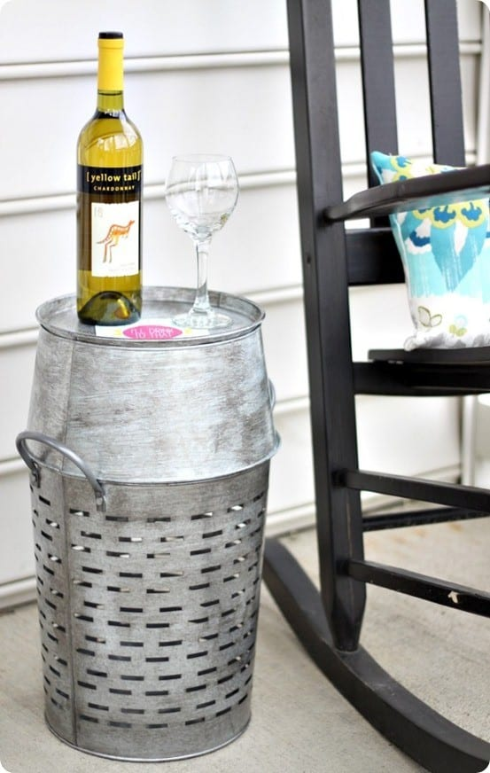 Pottery Barn Inspired Metal Outdoor Table