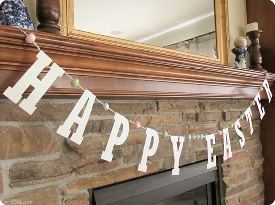 Pottery Barn Kids Inspired Glitter Easter Banner