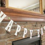 "Glitter ""Happy Easter"" Banner"