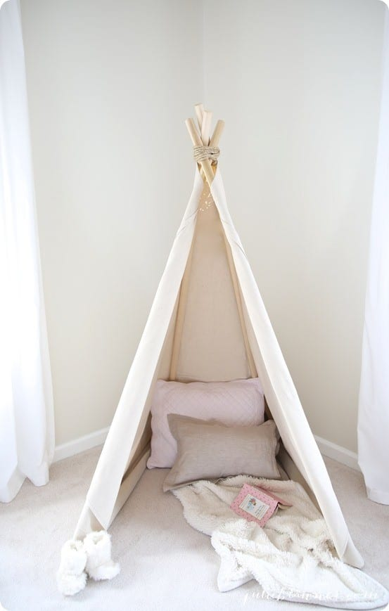 Pottery Barn Kids Inspired No Sew Kids Teepee