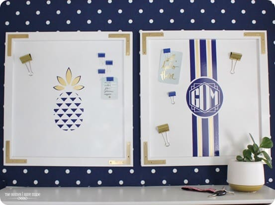 Pottery Barn Teen inspired magnetic memo boards