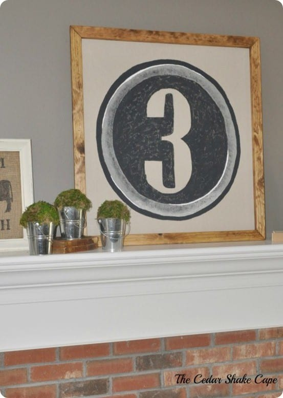 Pottery Barn inspired Type Key Wall Art