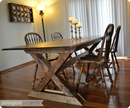 Pottery Barn inspired dining table