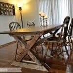 Trestle Dining Table for $300