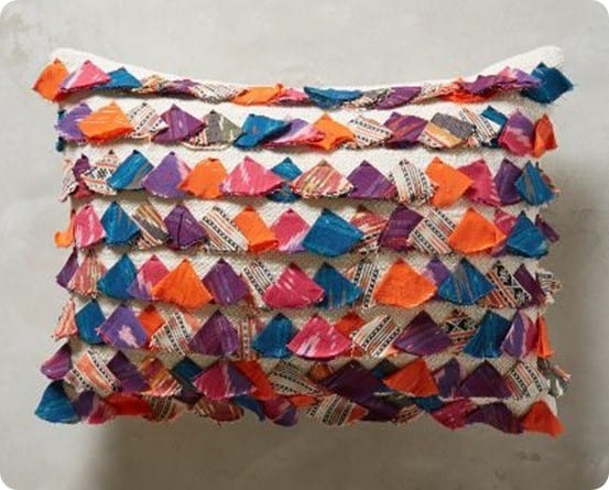 Tasseled Jacare Pillow