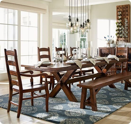 Trestle Dining Table for 300 : Toscana Dining Table from Pottery Barn from knockoffdecor.com size 553 x 523 jpeg 102kB