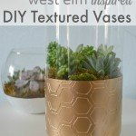 Textured Metallic Vases with Succulents