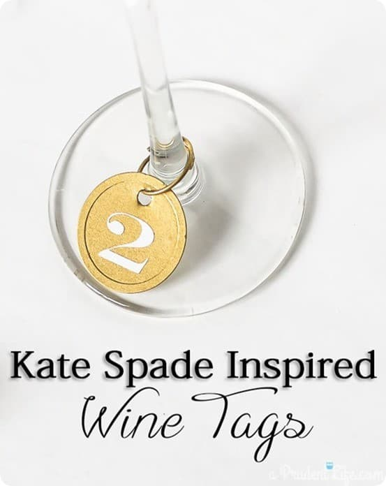kate spade inspired wine tags