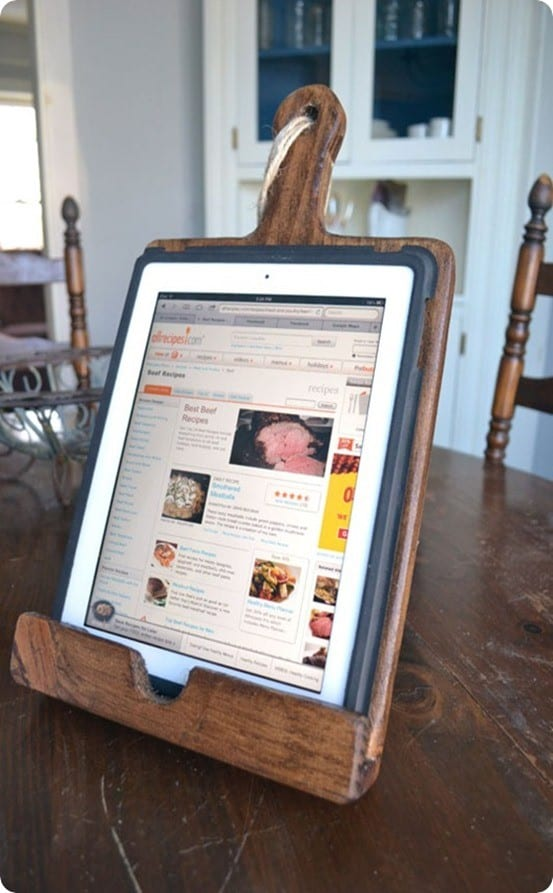 pottery barn inspired ipad stand