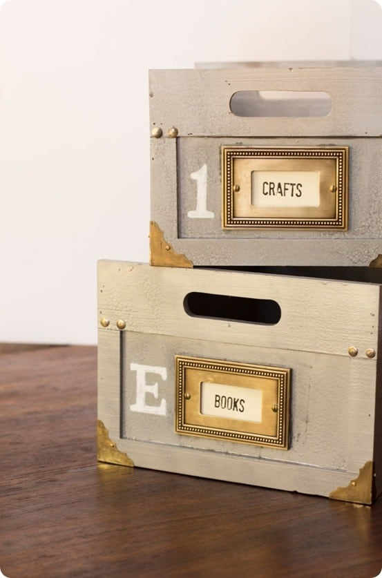 Anthropologie Inspired Distressed Storage Boxes