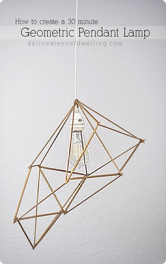 Anthropologie Inspired Geometric Pendant Light