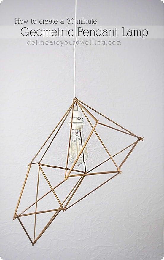 Anthropologie Inspired Geometric Pendant Light