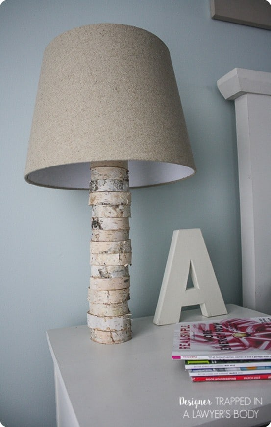 Anthropologie Inspired Wood Slice Lamp