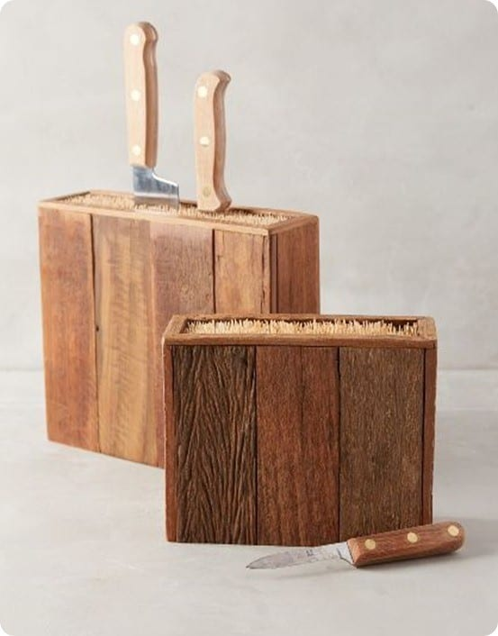 Bamboo Knife Block