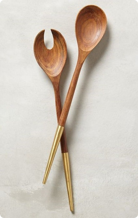 Brass Tipped Serving Set from Anthropologie