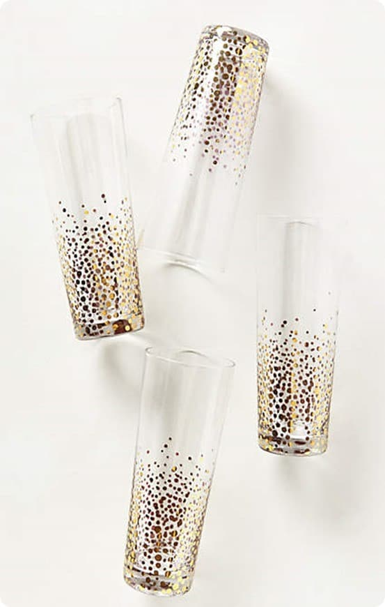 Champagne Bubble Highball Glasses from Anthropologie