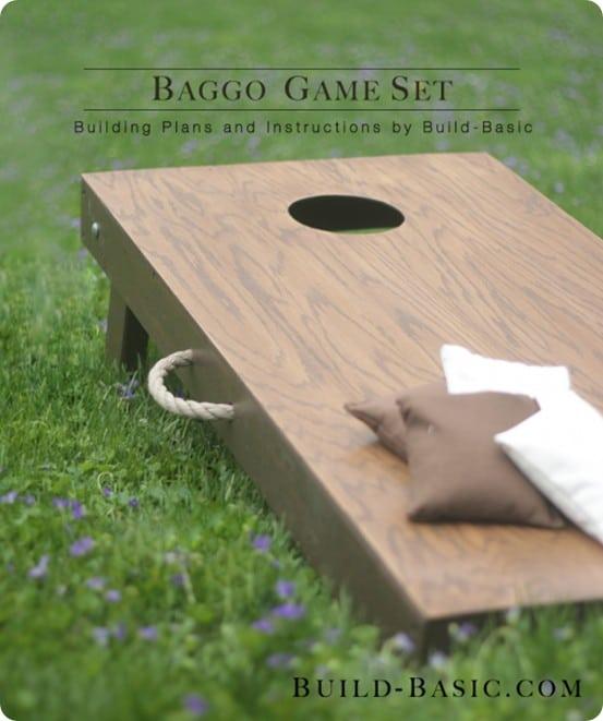 DIY Baggo Cornhole Game Set