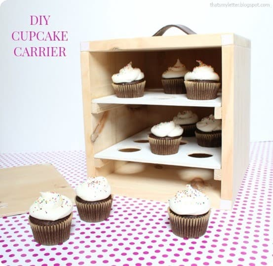 DIY Cupcake Carrier Inspired by Anthropologie