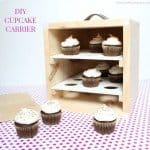 Wood Cupcake Carrier Box