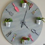 Garden Theme Clock from a Tabletop
