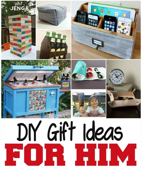 DIY Gifts for Guys Collage