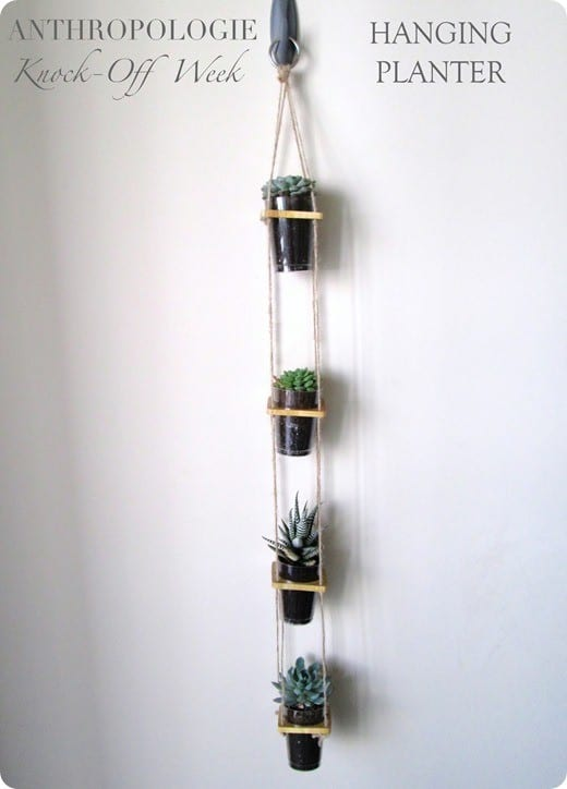 DIY Hanging Planter {Anthropologie Knock Off}