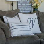 Drop Cloth Grain Sack Pillows