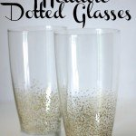 Metallic Dot Glasses