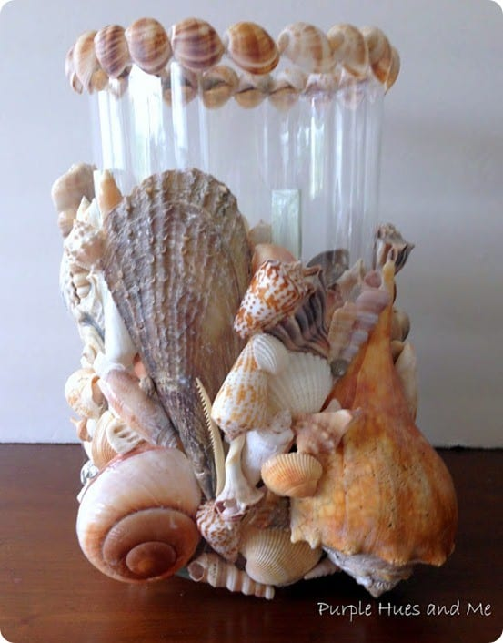 DIY Seashell Candle Holder for Summer