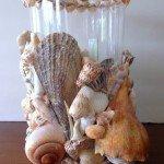 Seashell Hurricane Candle Holder