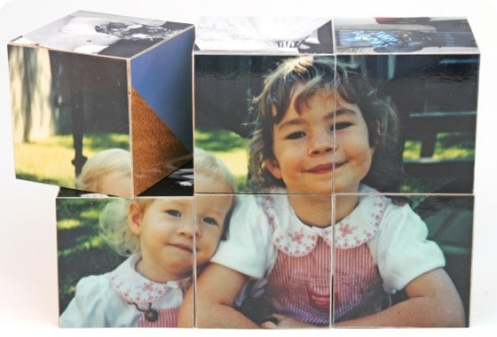 DIY Wood Photo Block Gift
