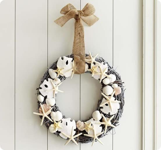 Faux Shell Wreath from Pottery Barn