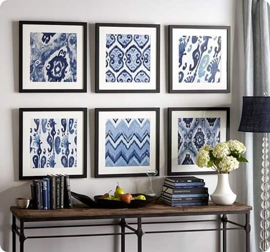 Framed Ikat Prints from Pottery Barn
